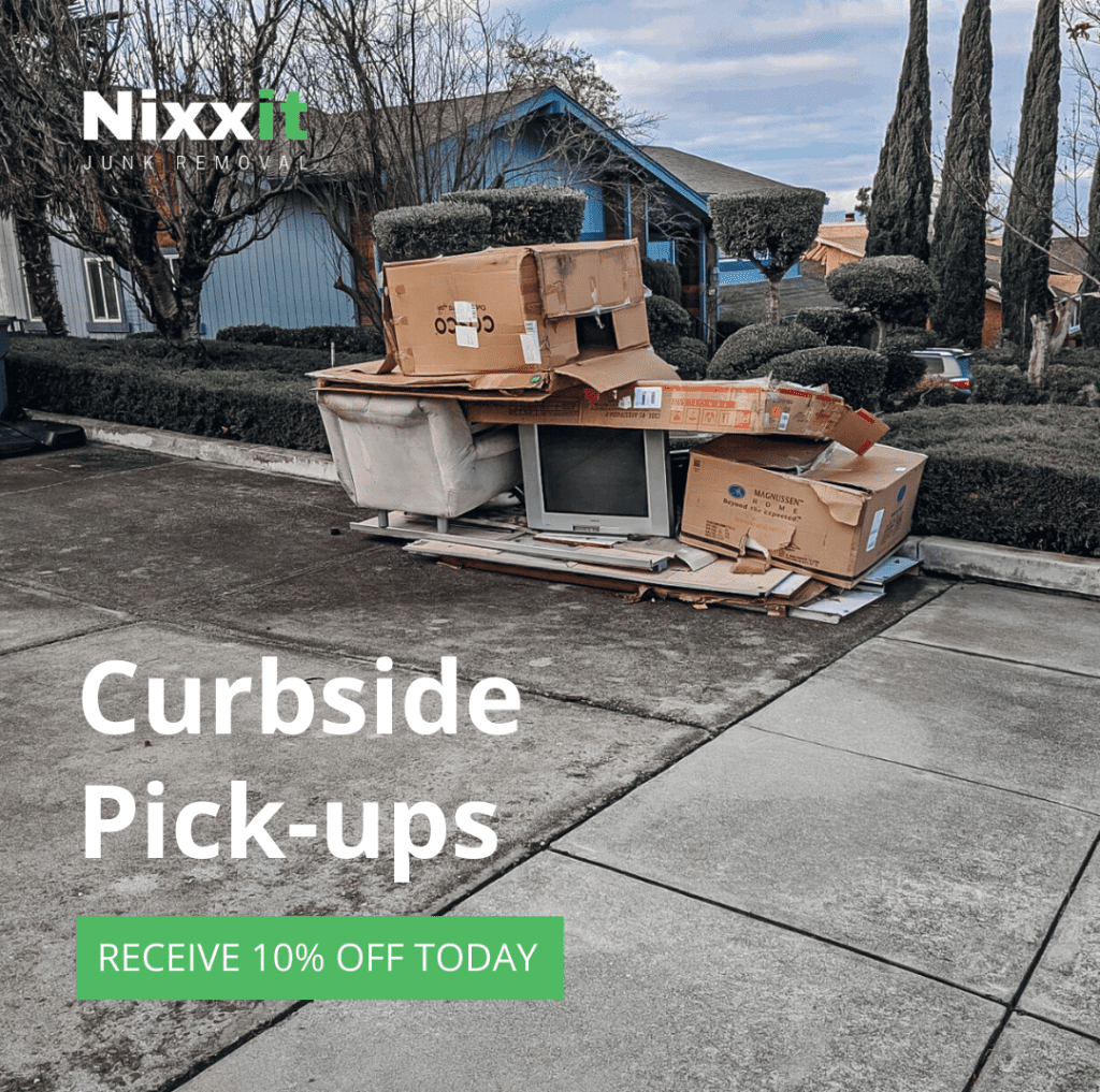 Nixxit is offering zero contact junk removal at the curbside to help promote social distancing